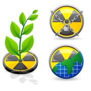 Sign is a radiation and ecology vector illustration Stock Illustration
