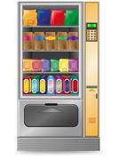 vending snack is a machine vector illustration - stock illustration