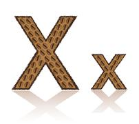 letter x is made grains of coffee vector illustration - stock illustration