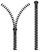 zipper silhouette vector illustration - stock illustration
