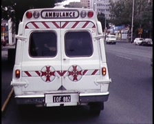 Australian Ambulances Driving (Archive Footage) 1980s - stock footage