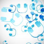 Abstract background: headphones Stock Illustration