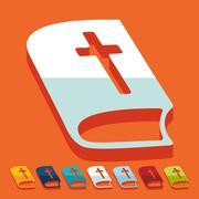Flat design: bible - stock illustration