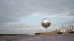 Mirror ball on Blackpool promenade Stock Footage