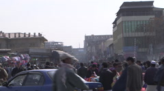 Busy street in Kabul Stock Footage