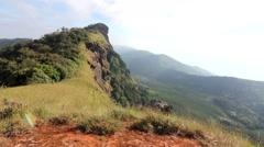 Peak mountain monjong ChiangMai Thailand Stock Footage