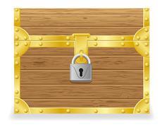 Closed antique chest vector illustration Stock Illustration