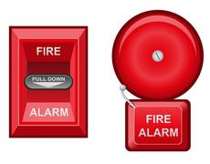 Fire alarm vector illustration Stock Illustration