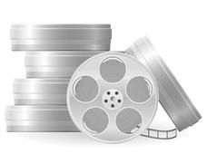 movie reel vector illustration - stock illustration