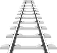 rails with concrete sleepers vector illustration - stock illustration