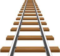 Rails with wooden sleepers vector illustration Stock Illustration