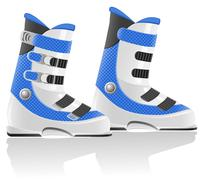 Ski boots vector illustration Stock Illustration