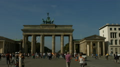 Brandenburger Tor, Pariser Platz, Berlin Stock Footage