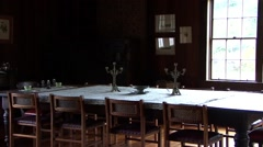 Old Dinning Table Stock Footage