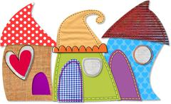 Stock Illustration of Quirky Houses