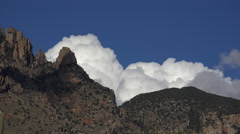 4K Puffy Clouds Finger Rock Arizona Time Lapse Stock Footage