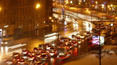 Traffic jam in Moscow, Russia - stock footage