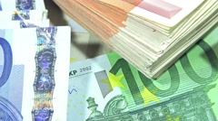 Banknotes (dolly shot) Stock Footage