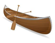 Canoe vector illustration Stock Illustration