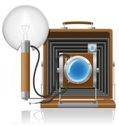 Old camera photo vector illustration Stock Illustration