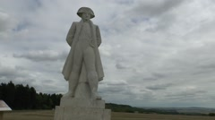 Statue of Napoleon 1st, on the Chemin des Dames, France. Stock Footage