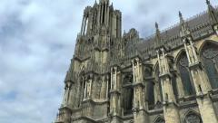 The Cathedrale Notre Dame, Reims, France. Stock Footage