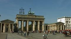 Brandenburger Tor, Pariser Platz, Berlin Stock Footage