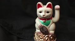 LUCKY ASIAN WAVING CAT - Stock Footage
