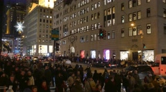 4K Manhattan Christmas Shoppers Stock Footage