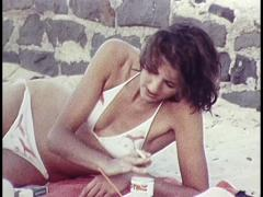 Aussies at the Beach/Leisure Time, Archival Footage - stock footage
