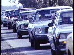 Archive Footage/ Close up, Very Heavy Traffic (Banked Up) Australia - stock footage