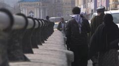 People walking in a street in Kabul Stock Footage