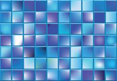 vector  blue blocks - stock illustration