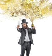 Golden new years eve Stock Illustration