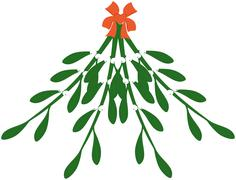 Stock Illustration of xmas mistletoe branch