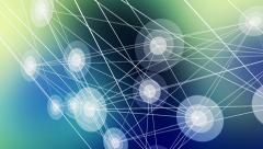 Connected blinking dots Stock Footage