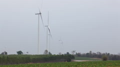 Wind turbines for green energy concept - stock footage