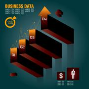 business growth - stock illustration