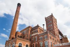 Restored schmidt brewery Stock Photos