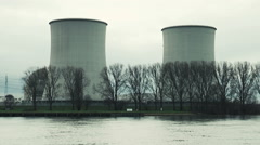Nuclear power plant Biblis Stock Footage