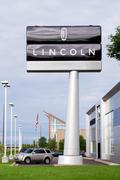 lincoln automobile dealership - stock photo