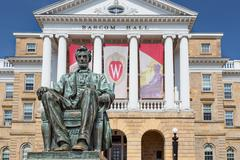 bascom hall on the campus of the university of wisconsin-madison - stock photo
