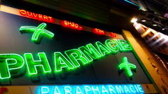 Drugstore Shop For Pharmaceuticals Stock Footage