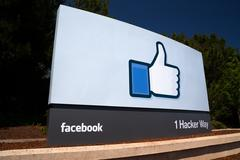 Facebook corporate headquarters sign in silicon valley Kuvituskuvat