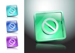 Sign no stop ban warning icon Stock Illustration