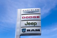 Chrysler automobile dealership Stock Photos