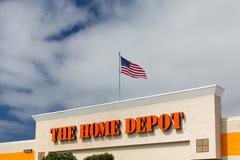 the home depot exterior - stock photo