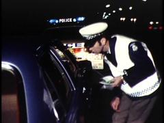 Random Breath Testing by Police, (Night) Archival footage Stock Footage