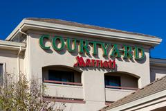 courtyard by marriot motel exterior - stock photo