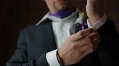 Groom in his costume threesome Stock Footage